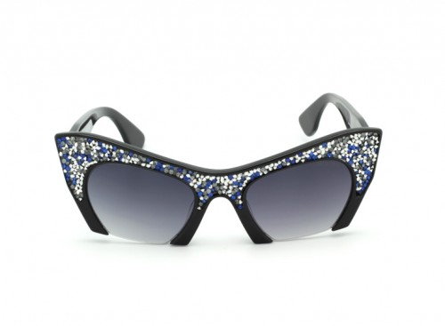 Солнцезащитные очки Miu Miu SMU 01QS VAC-OA7 Blue White Spangles